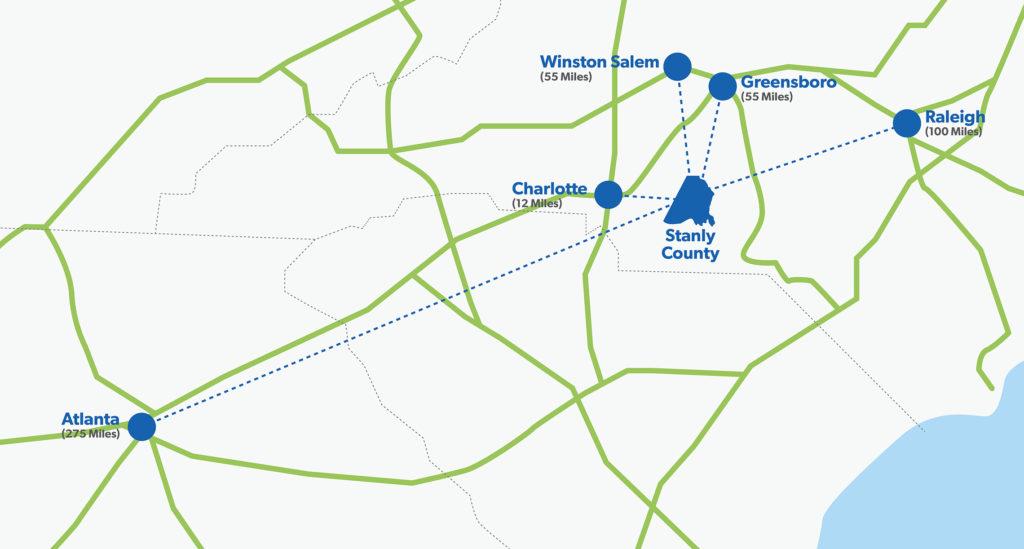 City Distances Map